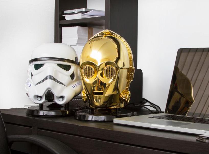 star-wars-audio-system-gold-plated-C3PO-stormtrooper-heads-designboom-11