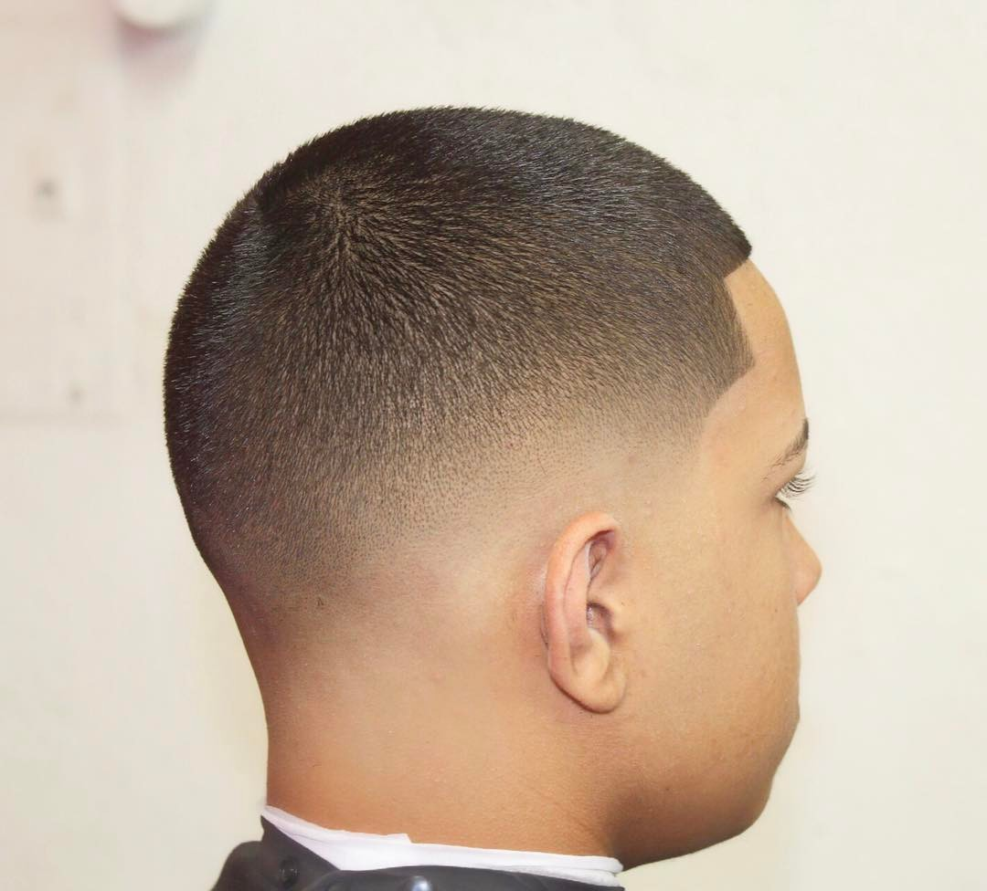 Buzz Cut + Line Up + Low Fade