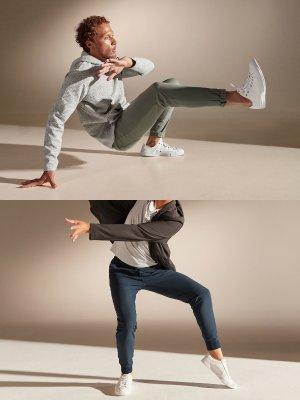 屈膝、下蹲、起跳無難度 無束縛全新面料舒適感Up