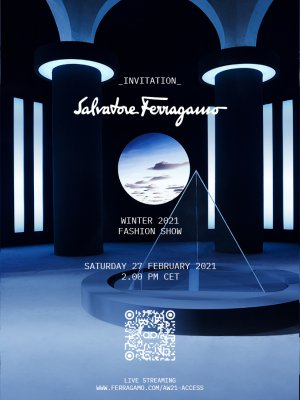 Ferragamo FW21 Fashion Show Invitation
